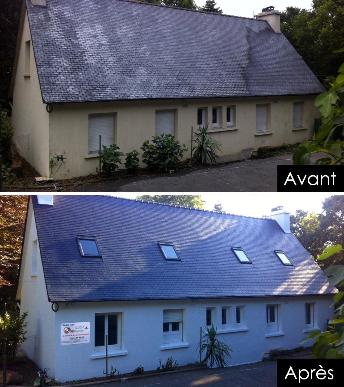 nettoyage toiture et façade